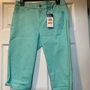 CHAPS teal green Bermuda shorts